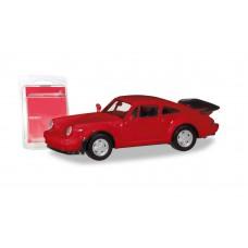 Herpa 013307-002 autko Porsche 911 Turbo, czerwony  MINI KIT , do składania  (H0)