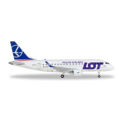 Herpa 530583 samolot  LOT Polish Airlines Embraer E170 - SP-LDH (1:500)