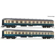"""Roco 74182 zestaw 2 wagony pociągu  D 229 """"Johann Strauß""""  DB ep.IV (H0)"""
